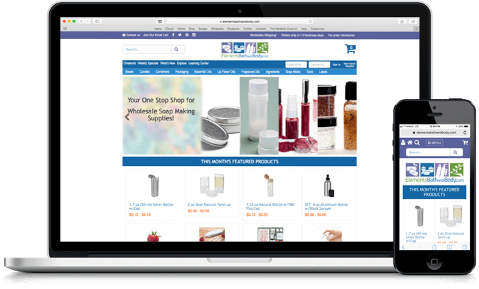 ecommerce web design and mobile