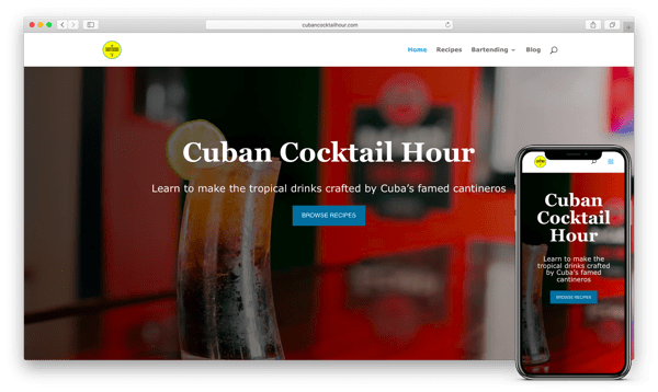 cuban cocktail hour website