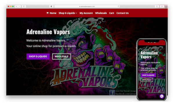 adrenaline vapors website